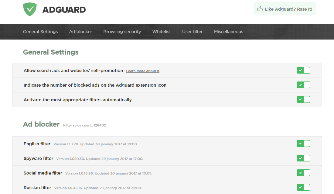 Adguard for Edge on Windows Store